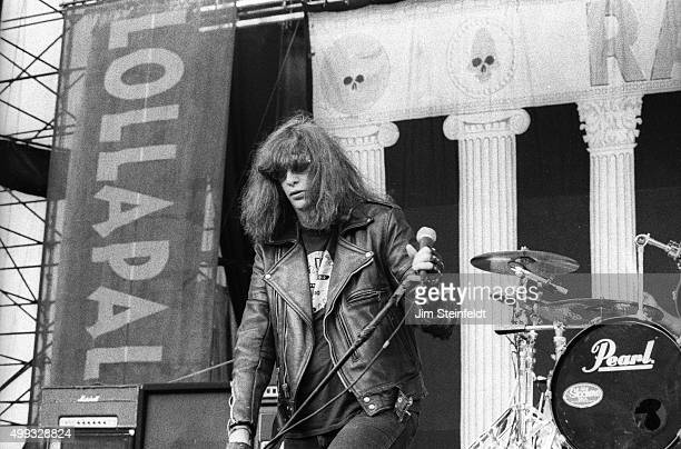 Joey Ramone performs with the Ramones at Lallapalooza at the Irvine Meadows Amphitheater in Irvine, California on August 3