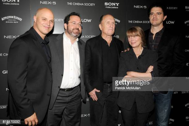 Joey Rappa Michael Barker Robert Duvall Sissy Spacek and Aaron Schneider attend THE CINEMA SOCIETY SONY ALPHA NEX host a screening of GET LOW at...
