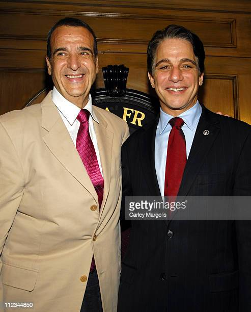 Joey Reynolds and Tony Danza during Tony Danza Speaks at the Friars Club Celebrity Luncheon Series - March 14, 2007 at Friars Club in New York City,...