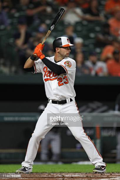 e6c82505f Joey Rickard of the Baltimore Orioles bats against the Chicago White Sox at  Oriole Park at