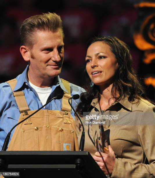 """Joey + Rory are Joey Martin Feek, Rory Feek accept """"Vocal Duo of the Year"""" at The 17th Annual Inspirational Country Music Awards at Schermerhorn..."""