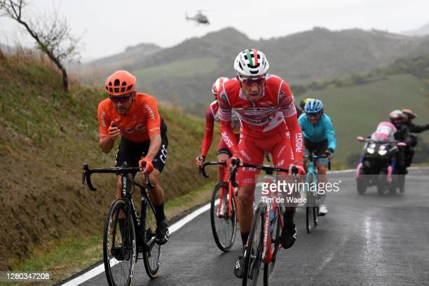 Joey Rosskopf of The United States and CCC Team / Simon Pellaud of Switzerland and Team Androni Giocattoli - Sidermec / Jesper Hansen of Denmark and...