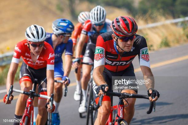 Joey Rosskopf of the United States and the BMC Racing Team leads on a climb during stage 4 of the 14th Larry H Miller Tour of Utah on August 10 2018...