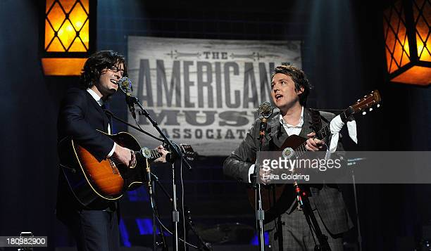 Joey Ryan and Kenneth Pattengale of perform during the 12th Annual Americana Music Honors And Awards Ceremony Presented By Nissan on September 18...