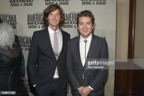 Joey Ryan and Kenneth Pattengale of The Milk Carton Kids attend the 2017 Americana Music Association Honors Awards on September 13 2017 in Nashville...