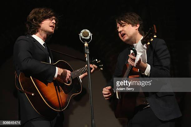 Joey Ryan and Kenneth Pattengale of The Milk Carton Kids perform during a concert at Passionskirche on January 24 2016 in Berlin Germany
