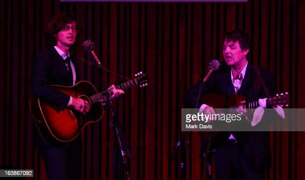 Joey Ryan and Kenneth Pattengale of the 'Milk Carton Kids' perform at the 2013 SXSW Music Film Interactive Festival held at the Central Presbyterian...