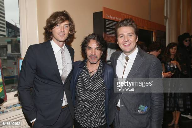 Joey Ryan and Kenneth Pattengale of The Milk Carton Kids pose with John Oates during he 2017 Americana Music Association Honors Awards on September...