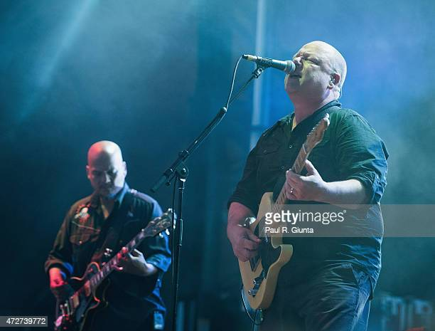 Joey Santiago and Black Francis of The Pixies perform on stage during day 1 of the 3rd Annual Shaky Knees Music Festival at Atlanta Central Park on...