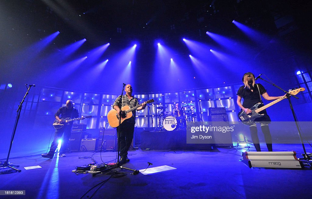Joey Santiago, Black Francis, Dave Lovering and Kim Shattuck of The Pixies perform live on stage on Day 25 of iTunes Festival 2013 at The Roundhouse on September 25, 2013 in London, England.