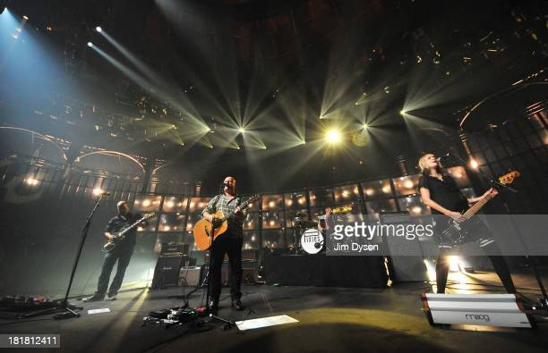 Joey Santiago, Black Francis, Dave Lovering and Kim Shattuck of The Pixies perform live on stage on Day 25 of iTunes Festival 2013 at The Roundhouse...