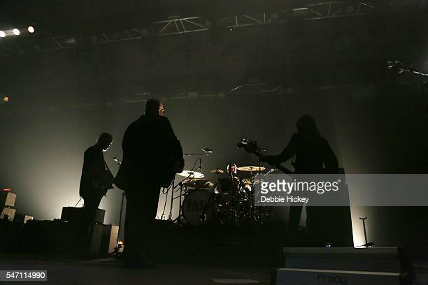 Joey Santiago Black Francis David Lovering and Paz Lenchantin of The Pixies perform at The Marquee on July 13 2016 in Cork Ireland