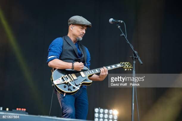 Joey Santiago from The Pixies performs during first Lollapalooza Festival in France at Hippodrome de Longchamp on July 23 2017 in Paris France