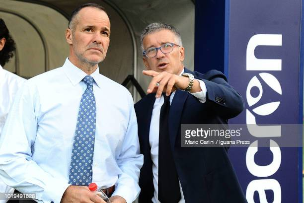 Joey Saputo President of Bologna FC cheers his players prior the beginnng of the serie A match between Bologna FC and SPAL at Stadio Renato Dall'Ara...