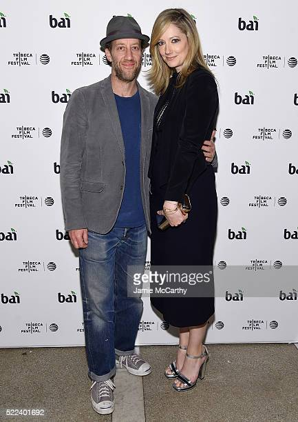 Joey Slotnick and Judy Greer attend the 2016 Tribeca Film Festival After Party For Elvis & Nixon Sponsored By Bai Beverages at The Jane Hotel on...
