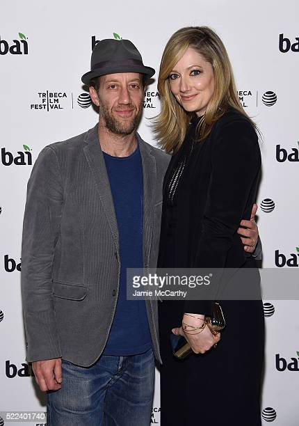 Joey Slotnick and Judy Greer attend the 2016 Tribeca Film Festival After Party For Elvis Nixon Sponsored By Bai Beverages at The Jane Hotel on April...