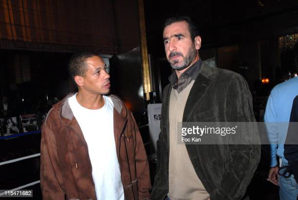 Joey Starr and Joel Cantona during Beatrice Dalle Face a l'Objectif book and Champions book Launch at Cafe De L'Homme Musee de L'Homme in Paris France