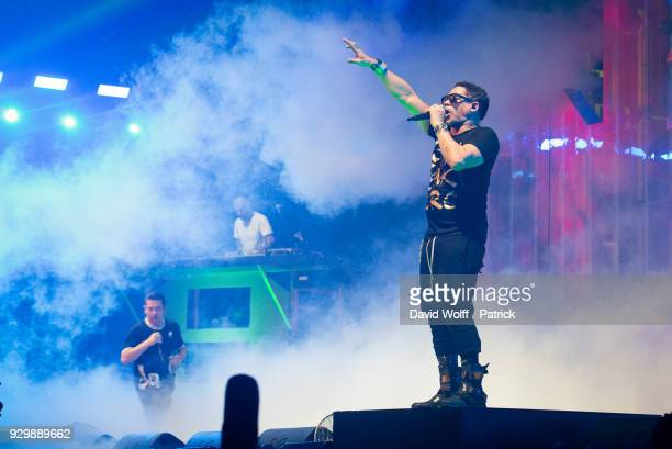 Joey Starr and Kool Shen from Supreme NTM perform at AccorHotels Arena on March 9 2018 in Paris France