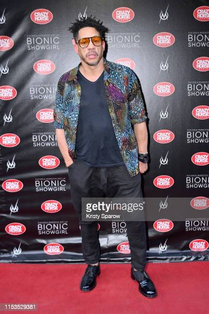 Joey Starr attends the Bionic ShowGirl Premiere at Le Crazy Horse on June 03 2019 in Paris France