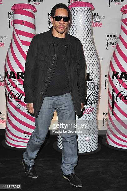 Joey Starr attends the CocaCola Light Karl Lagerfeld New Collaboration Celebration Cocktail at Restaurant Le Georges on April 7 2011 in Paris France