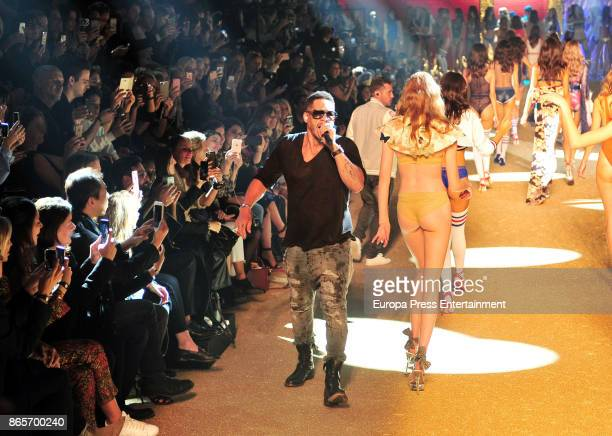 Joey Starr attends the Etam show as part of the Paris Fashion Week Womenswear Spring/Summer 2018 on September 26 2017 in Paris France
