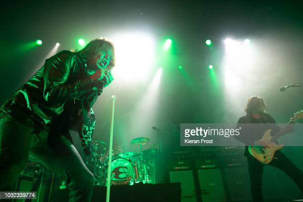 Joey Tempest and John Norum of Europe performs at the Olympia Theatre on September 12 2018 in Dublin Ireland