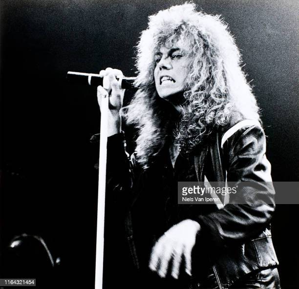 Joey Tempest Europe performing on stage Edenhal Amsterdam Netherlands 14th February 1987