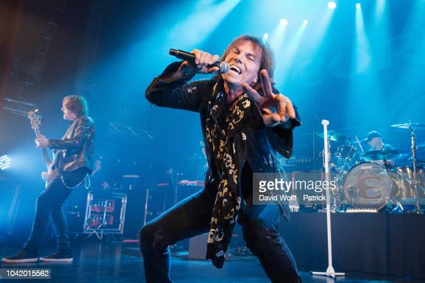 Joey Tempest from Europe performs at Theatre du Trianon on September 27 2018 in Paris France