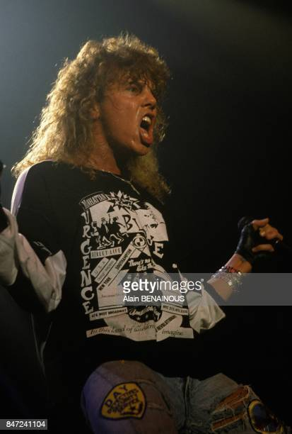 Joey Tempest of Europe group in concert at Zenith music hall on March 23 1989 in Paris France