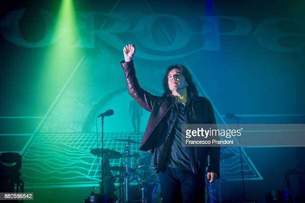 Joey Tempest of Europe perform at Alcatraz on stage on November 29 2017 in Milan Italy