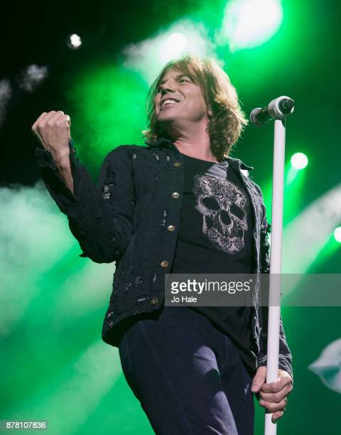 Joey Tempest of Europe performs and supports Deep Purple at The O2 Arena on November 23 2017 in London England