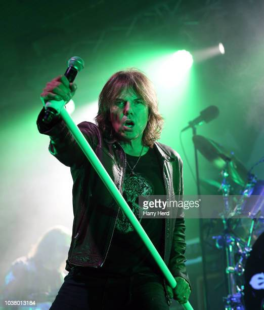Alan Nimmo of King King performs at Pyramids on September 22 2018 in Portsmouth England