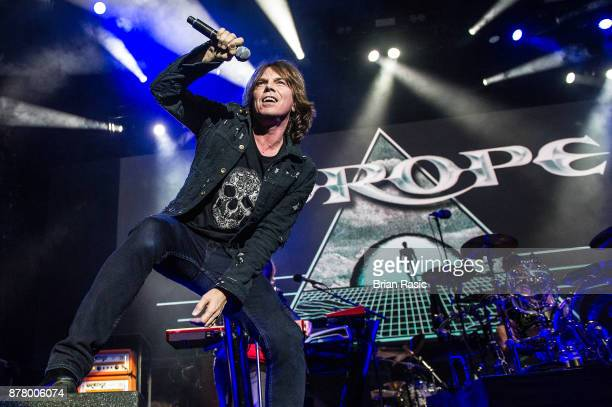 Joey Tempest of Europe performs at The O2 Arena on November 23 2017 in London England