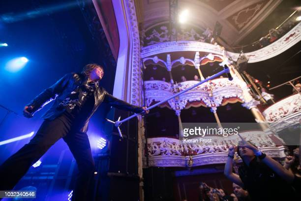 Joey Tempest of Europe performs at the Olympia Theatre on September 12 2018 in Dublin Ireland