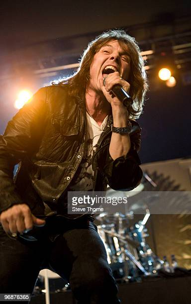Joey Tempest of Europe performs on stage at Birmingham Academy on February 19 2010 in Birmingham England