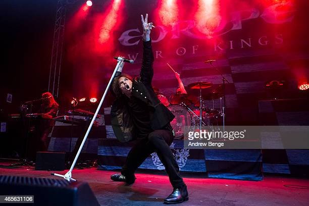 Joey Tempest of Europe performs on stage at O2 Academy Leeds on March 8 2015 in Leeds United Kingdom