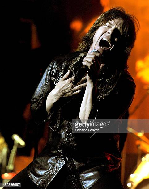 Joey Tempest of Europe performs on stage at O2 Apollo Manchester on April 3 2014 in Manchester United Kingdom