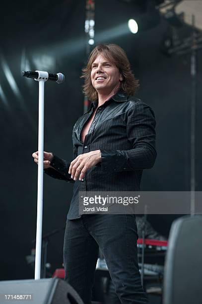 Joey Tempest of Europe performs on stage at Poble Espanyol on June 24 2013 in Barcelona Spain