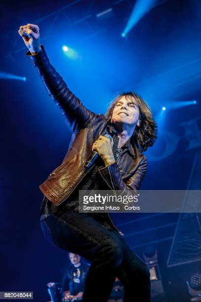 Joey Tempest of Europe performs on stage on November 29 2017 in Milan Italy