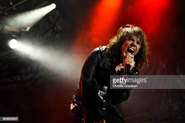 Joey Tempest of Europe performs on stage on the last day of Bloodstock Open Air festival at Catton Hall on August 16 2009 in Derby England