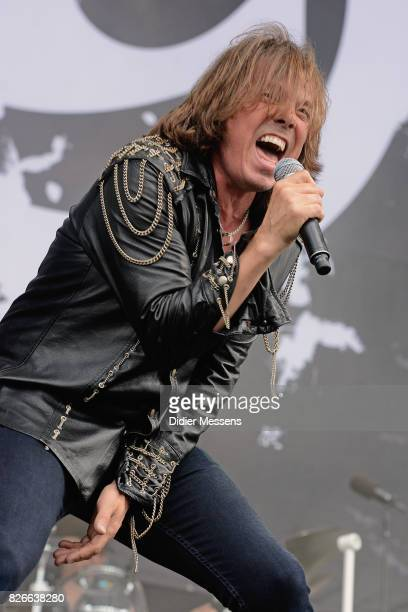 Joey Tempest of the Swedish band Europe performing live during the first day of the Wacken Open Air festival on August 3 2017 in Wacken Germany