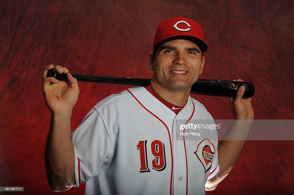 Joey Votto #19 of the Cincinnati Reds poses during MLB photo day on February 16, 2013 at the Goodyear Ballpark in Goodyear, Arizona.