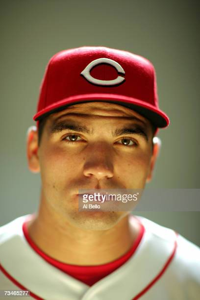 Joey Votto of the Cincinnati Reds poses during Photo Day on February 23 2007 at Ed Smith Stadium in Sarasota Florida