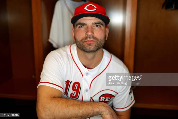 Joey Votto of the Cincinnati Reds poses during Photo Day on Tuesday February 20 2018 at Goodyear Ballpark in Goodyear Arizona