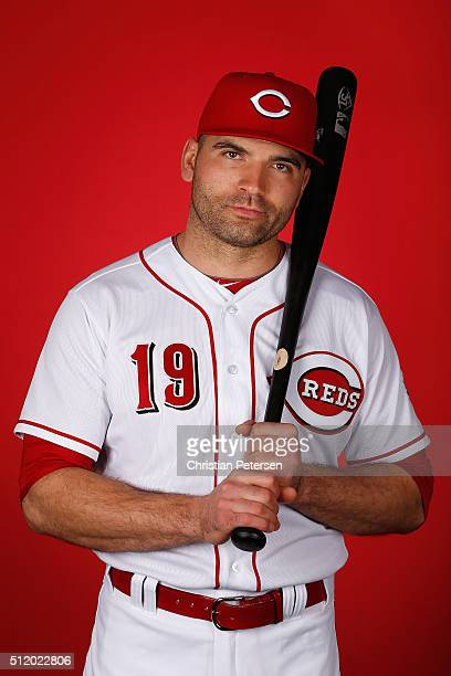 Joey Votto of the Cincinnati Reds poses for a portrait during spring training photo day at Goodyear Ballpark on February 24 2016 in Goodyear Arizona