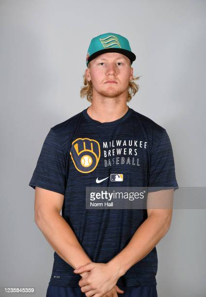 Joey Wiemer of the Salt Rive Rafters poses for a headshot during the 2021 Arizona Fall League Headshots at Salt River Fields at Talking Stick on...