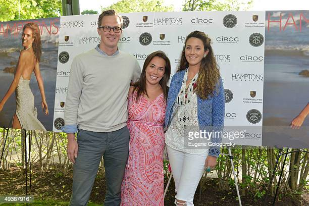 Joey Wolffer Max Wolffer and Samantha Yanks attend the Hamptons Magazine Celebration of Memorial Day Cover Star Heidi Klum on May 24 2014 in...