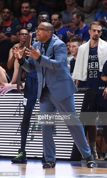 Joey Wright coach of the Adelaide 36ers during game four of the NBL Grand Final series between the Adelaide 36ers and Melbourne United at Priceline...