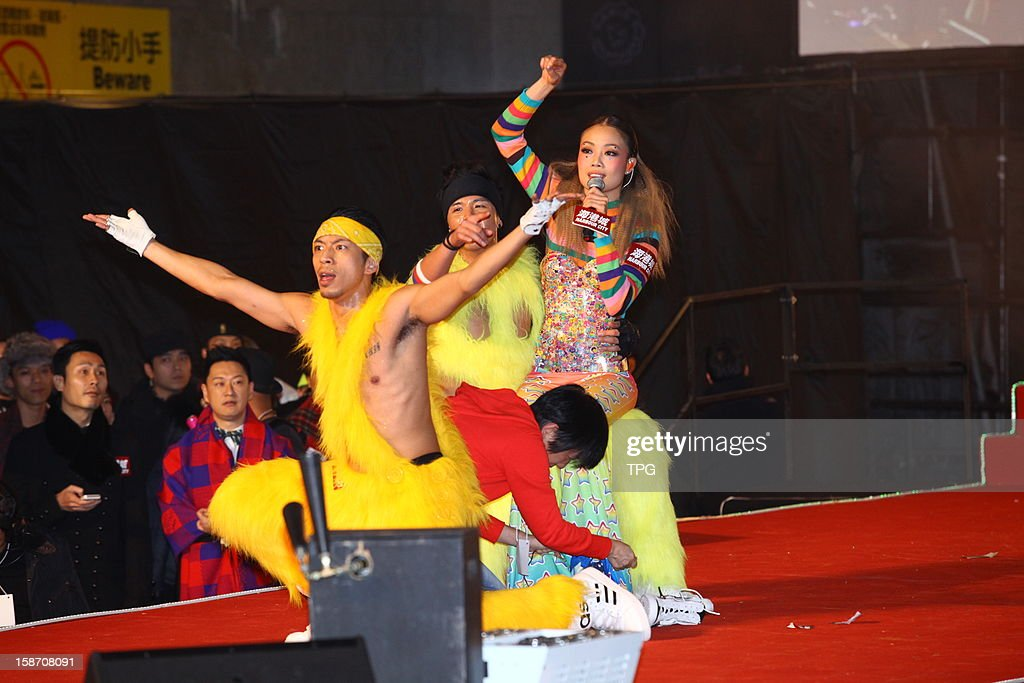 Joey Yung performed in Christmas Street Party on Monday December 24, 2012 in Hong Kong, China.