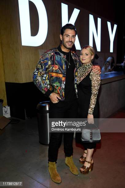 Joey Zauzig and Kat Fressle attend as DKNY turns 30 with special live performances by Halsey and The Martinez Brothers at St Ann's Warehouse on...